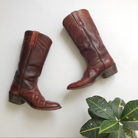b6ecec6bb Frye Shoes | Vintage Leather Cowboy Boots | Poshmark